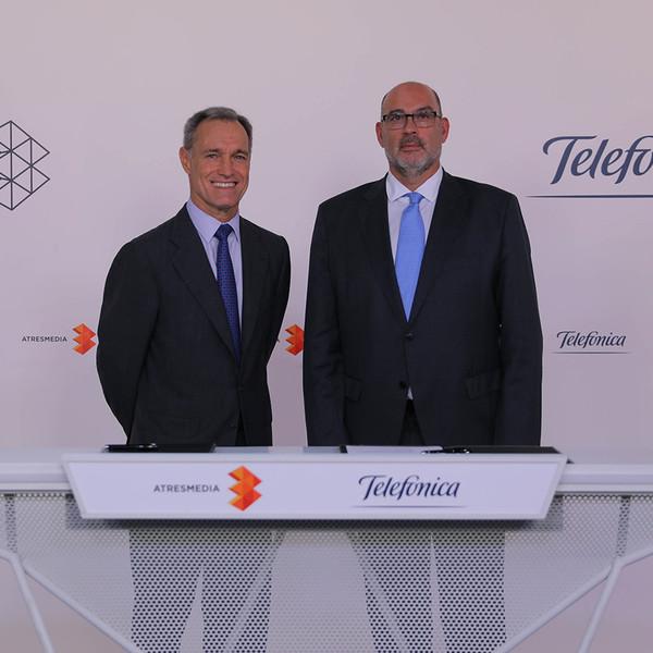 Telefónica-Atresmedia, alianza estratégica para contenidos audiovisuales en español
