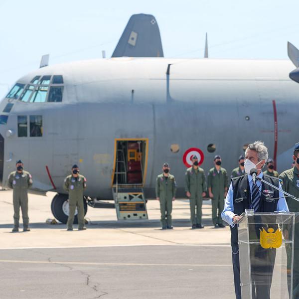 Perú recibe dos aviones Hércules adquiridos a España