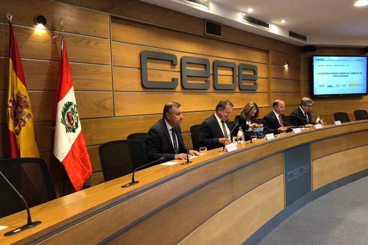 XVI Premios Cámara de Comercio de Perú en España