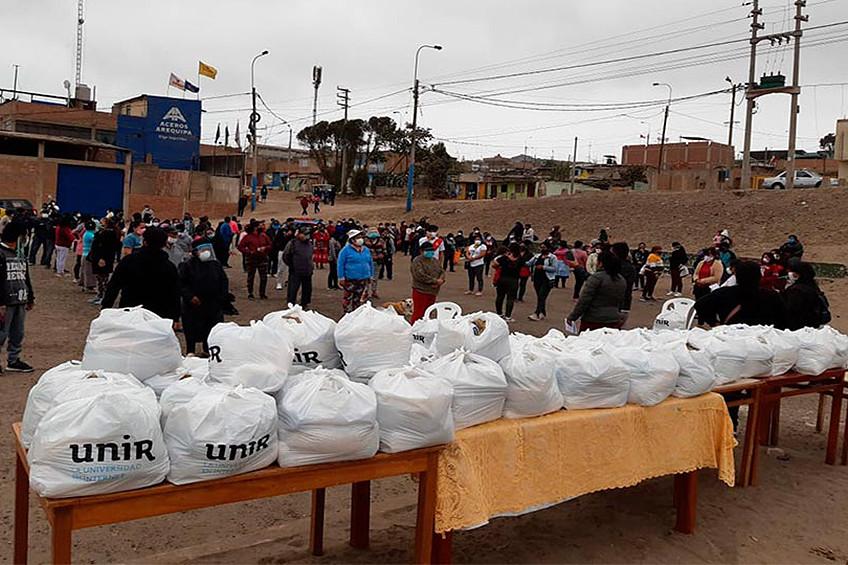Acciones solidarias y educativas de la UNIR en Perú